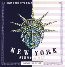 New York night & day coloring book