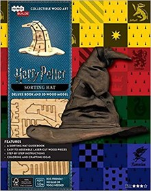 Harry Potter sorting hat deluxe book and 3D wood model